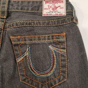 True Religion Joey Cut Off Capri Jeans Women's 28